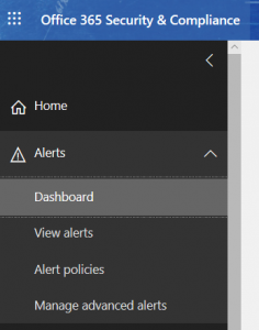 setting an email forward alert page security and compliance