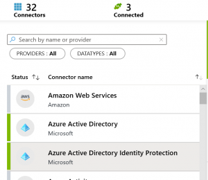 working with azure sentinel Azure AD Identity Protection data connector