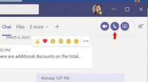 Teams chat window
