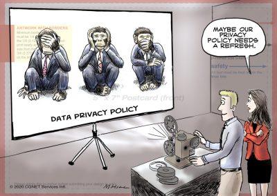 Data privacy cartoon