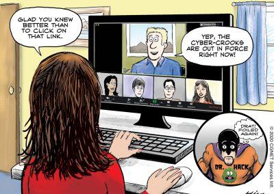 cyber crime cartoon
