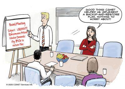 Ransomware cartoon