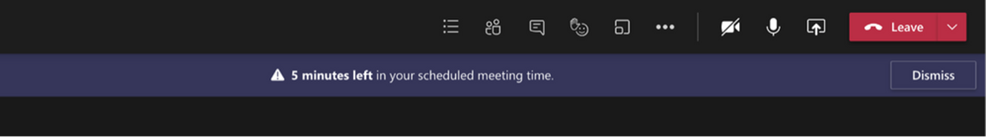 end of meeting notification