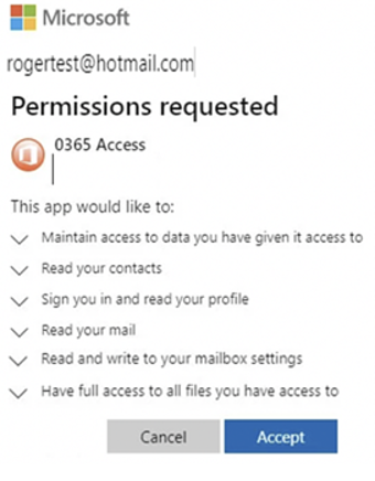 OAUTH permissions