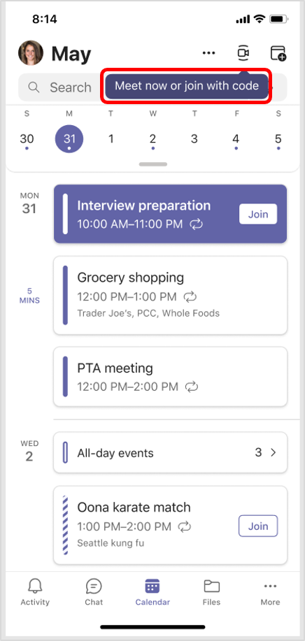 New Teams Meeting feature:join mobile teams meeting