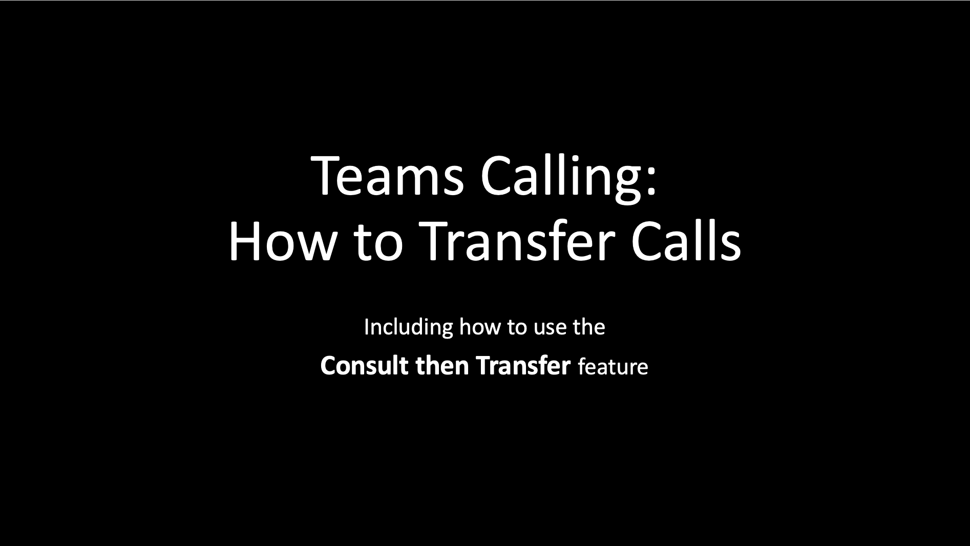 How to transfer calls in Teams